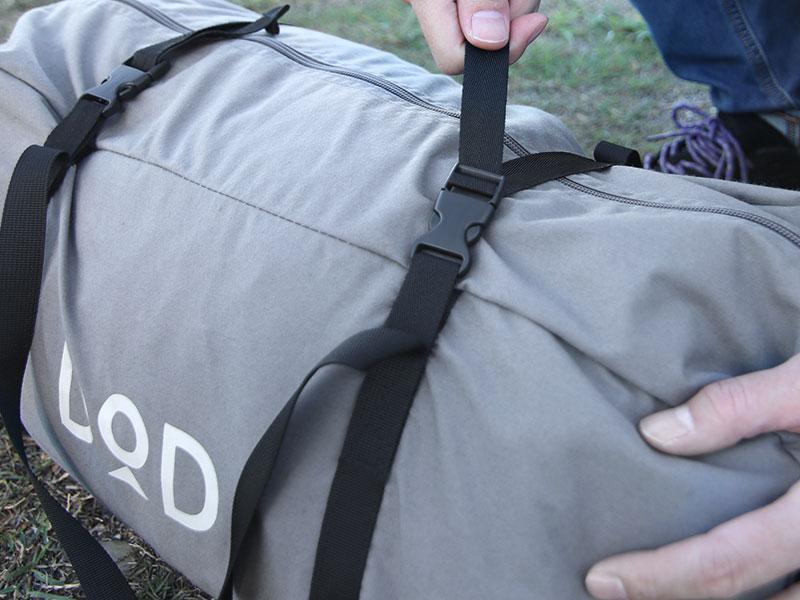 ショウネンテントTCの各部の特徴(コンプレッション付きキャリーバッグ)