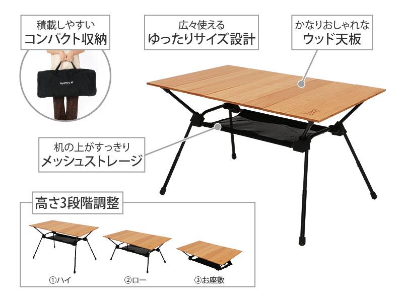 キャナリーテーブルMの主な特徴