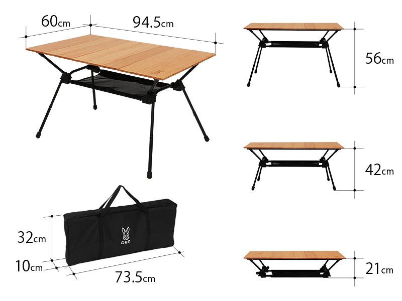 キャナリーテーブルMのサイズ画像