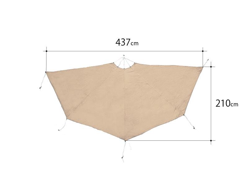 タケノコドレープのサイズ画像