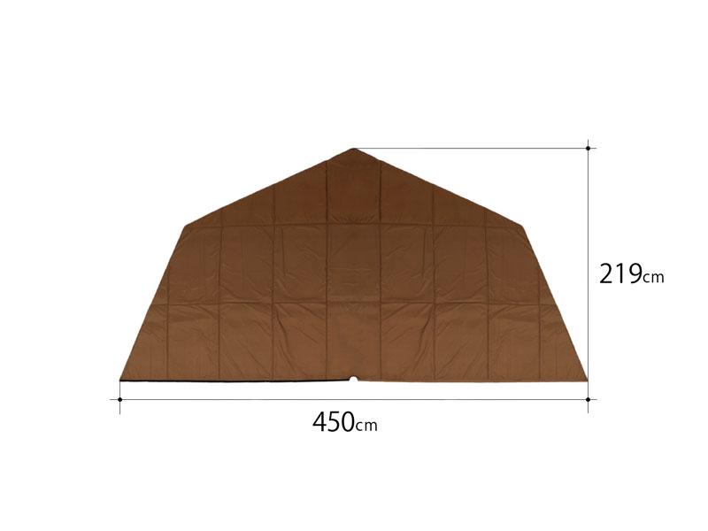 タケノコテント用マットのサイズ画像