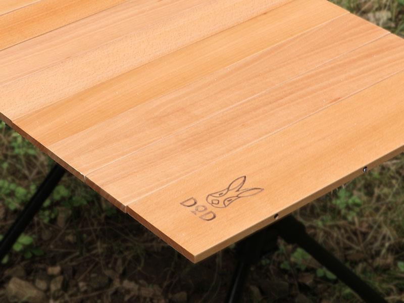 ジミニーテーブルSのメインの特徴(ウッド天板が地味にいい)