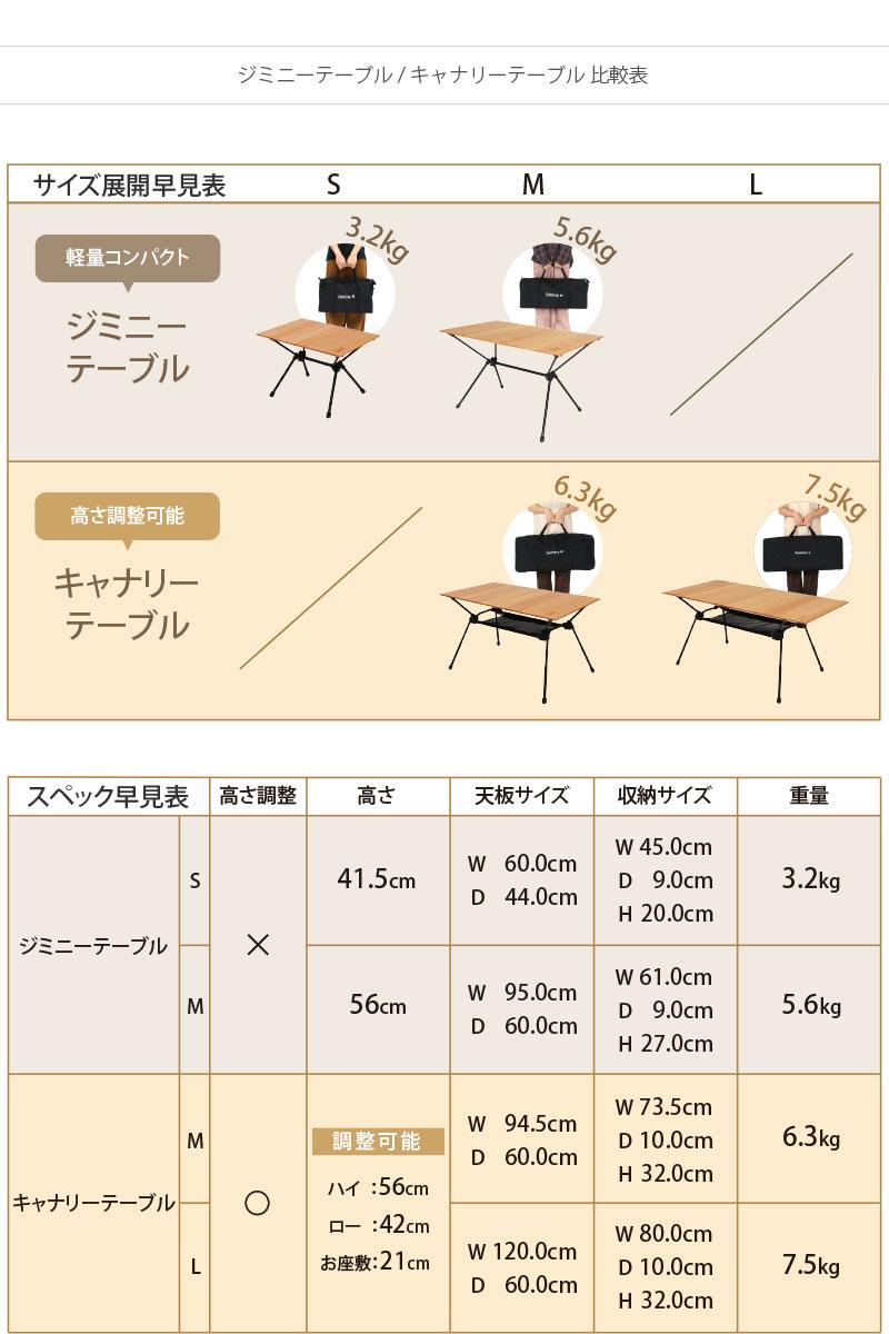 ジミニーテーブルМのサイズ画像