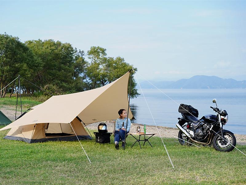 オーマイロンリナイイッツマイライフタープのメインの特徴(ソロキャンプにちょうどいいサイズ設計)