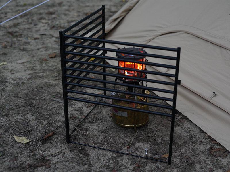 テキーラガードのメインの特徴(ストーブや焚き火台との接触をガード)