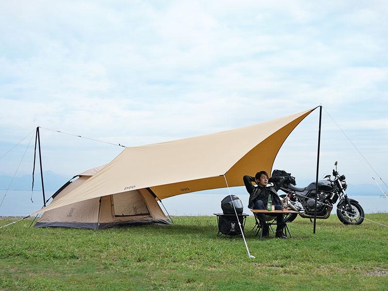 オーマイロンリナイイッツマイライフタープTCのメインの特徴(ソロキャンプにちょうどいいサイズ設計)