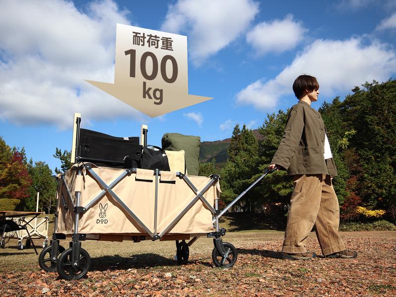 アルミキャリーワゴンの各部の特徴(耐荷重100kg)