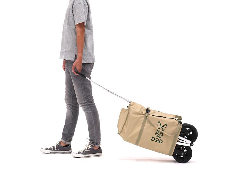 アルミキャリーワゴンの各部の特徴(転がして運べるキャリーバッグ)