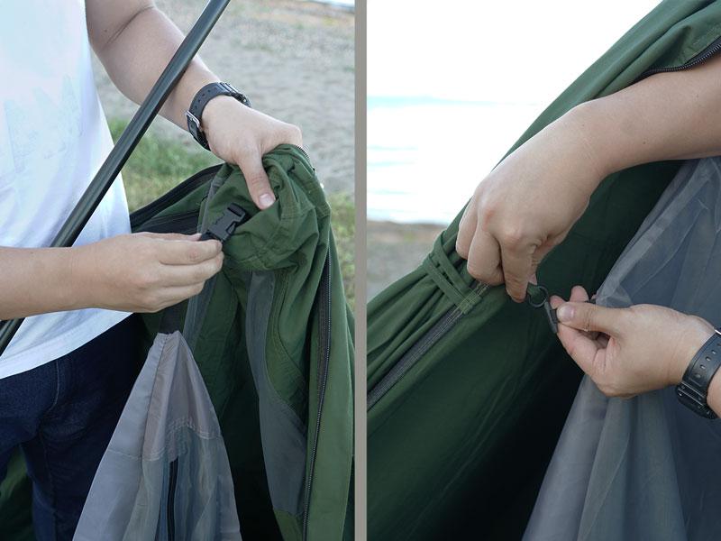 ムシャテントの組立/設営方法