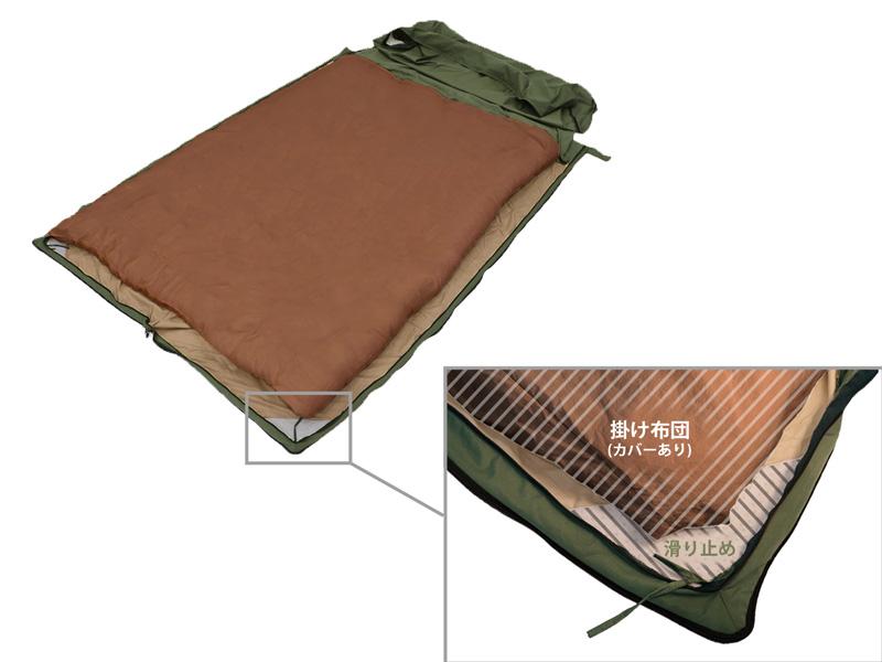 フトンキャンパー(シングルサイズ)のメインの特徴(掛け布団カバーの上からも使用可能)