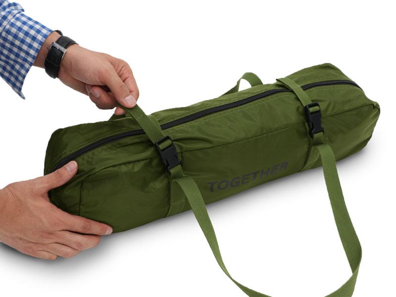 カートゥギャザータープの各部の特徴(専用コンプレッションバッグ)