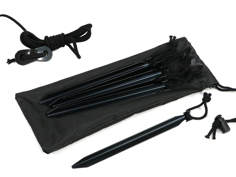 タキビノムコウの各部の特徴(ロープとペグ付き)