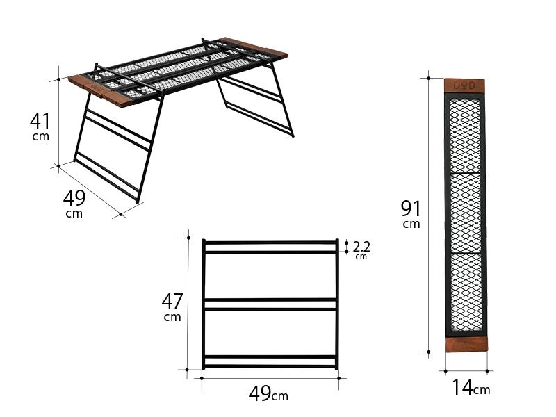 テキーラテーブルのサイズ画像