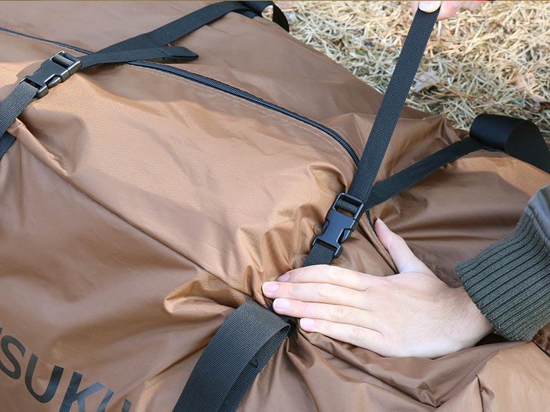 ツクツクベースの各部の特徴(専用コンプレッションバッグ)