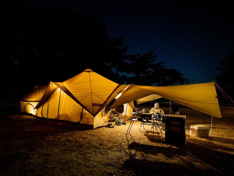 ツクツクベースのメインの特徴(大人数や連泊のキャンプにおすすめ。エイツクヒレスタイル)