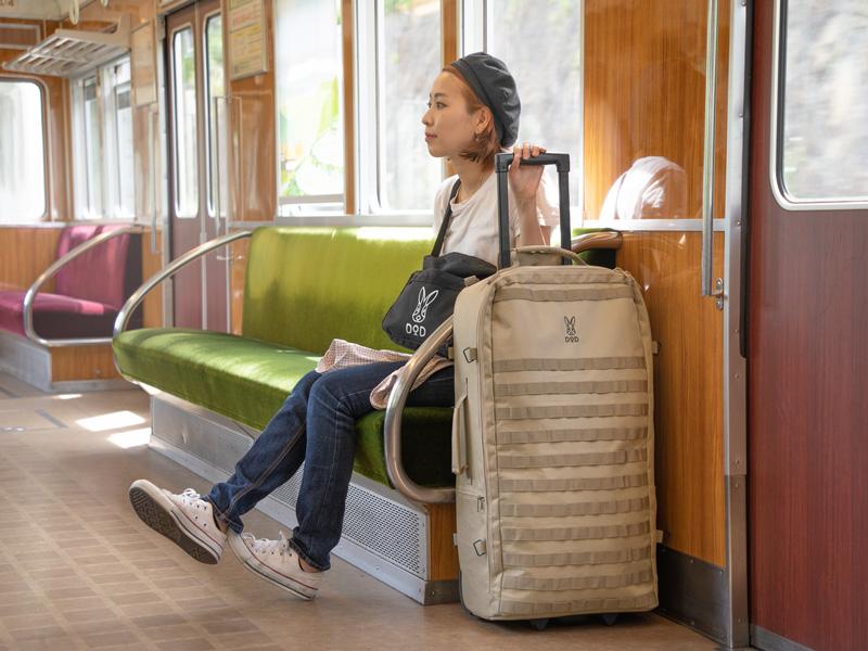 キャンパーノ・コロコーロ2のメインの特徴(電車やバスの中でも邪魔にならない)