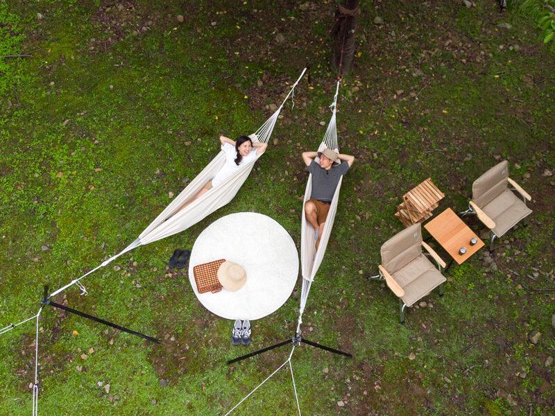 ハンモックスタンドのメインの特徴(1本の木でハンモックピクニック)